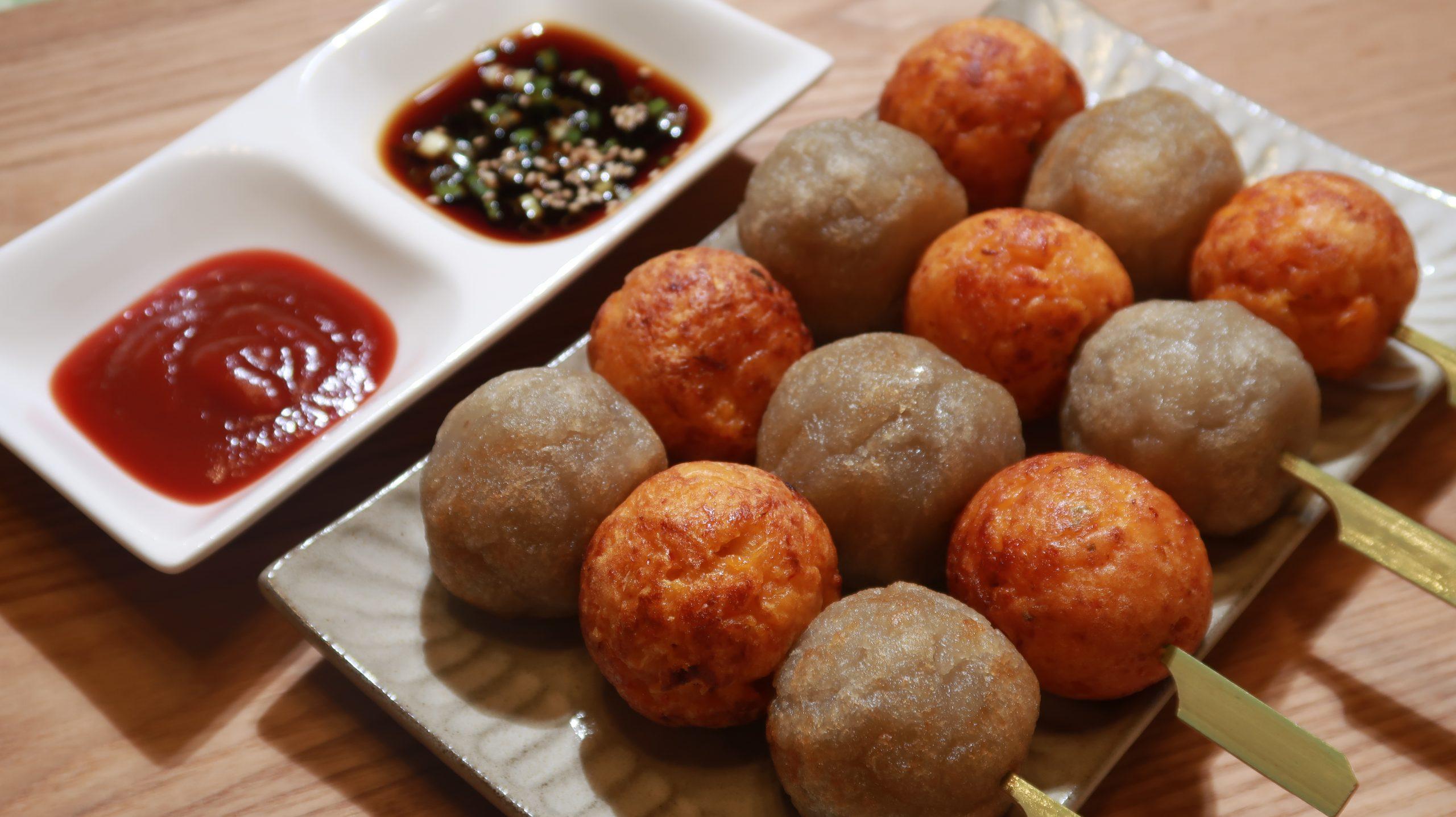 Olive家の簡単レシピ | 韓国料理応用 たこ焼き器で焼き上げるキムチチヂミ&ジャガイモチヂミ たこ焼き風