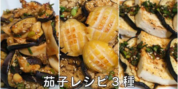 茄子レシピ 3種 / 茄子ナムル | 焼きなすのナムル / あわび茄子丼 / なすと豆腐焼き | Olive家の簡単レシピ